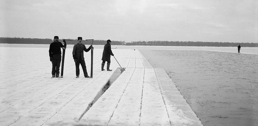 Frederic Tudor - Cosecha de hielo en lago