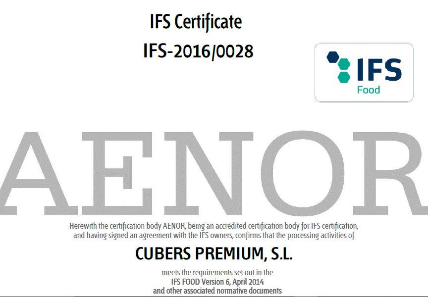 Certificación IFS Food.
