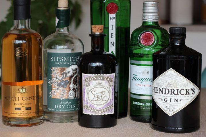 La ginebra. Tipos e historia. Ginebras españolas.