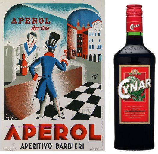 Vermut rojo y aperitivos italianos - Aperol y Cynar