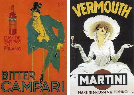 Vermut rojo y aperitivos italianos - Martini y Campari