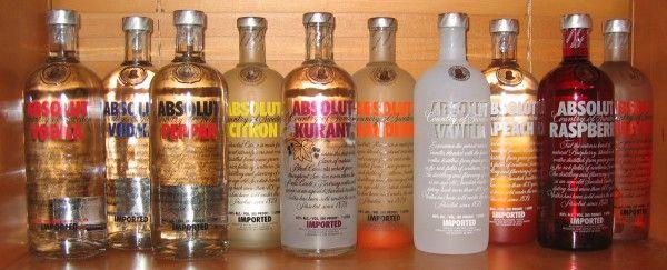 Vodka Absolut y su amplia gama de sabores y aromas.