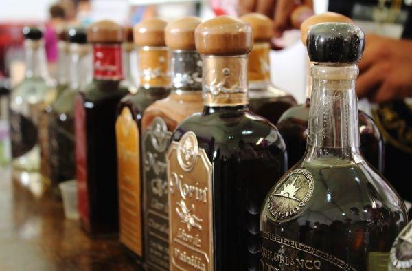 Diferentes tipos de Tequilas elaborados en Jalisco.